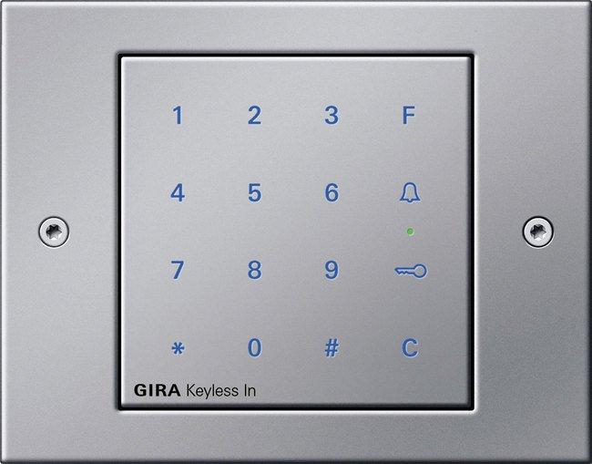 Clavier à code GIRA, Secure inside, installation de contrôle d'accès